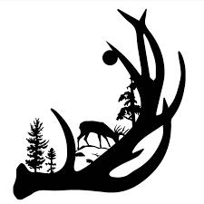Deer Antler With Buck Forest Back Ground Vinyl Decal Sticker Car Truck Window Car Accessories Decal Sticker Sticker Carcar Decal Sticker Aliexpress