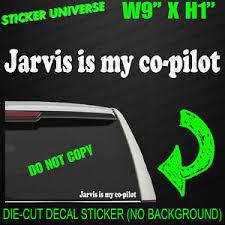 Jarvis Is My Co Pilot Funny Car Window Decal Bumper Sticker Avengers Stark 0002 Ebay