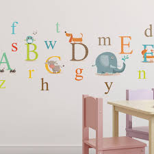 Isabelle Max Classic Animals Alphabet Nursery Wall Decal Wayfair