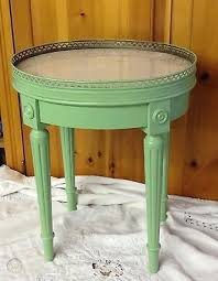 vintage small marble top brass rim