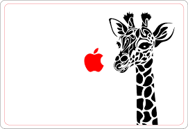 2 Units Of Giraffe Head Laptop Decal Sticker Macbook Decals Air Retina Stickers Africa African Wildlife Giraffes Animal Hungry
