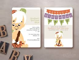 Bambam Cumpleanos Bash Invitacion Flintstones Descarga Digital