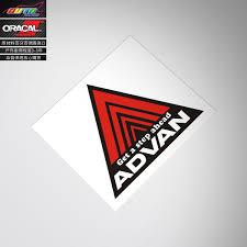 Suitable For Advan Racing Sticker Decal Advan Triangular Sticker Modified Car Decals