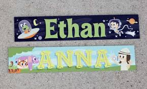 Kids Room Signs Girls Boys Door Name Plates