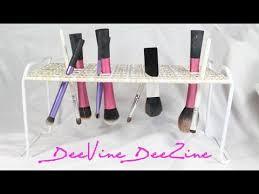 diy cosmetic brush drying tree under