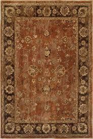oriental weavers 4465e orange area rugs