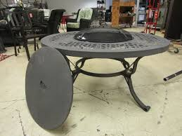 patio table with fire pit insert
