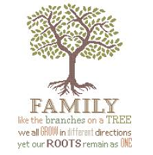family like the branches on a tree grow different directions roots
