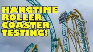 hangtime roller coaster testing knott