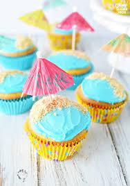 easy beach birthday cupcakes oh my