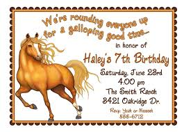 Free Printable Horse Birthday Invitations Fiesta Vaquera