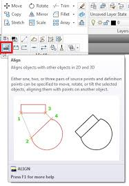 autocad 2016 align scale objects