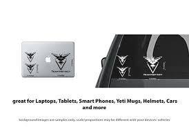 6x Pokemon Go Team Instinct Symbol Car Window Laptop Vinyl Decal Sti Stickerboy Skins For Protecting Your Mobile Device