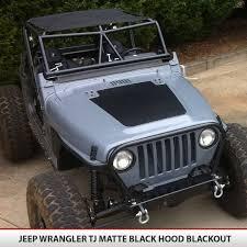 Hood Blackout Vinyl Decal For Jeep Wrangler Tj 97 06 Alphavinyl