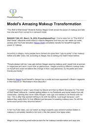 model s amazing makeup transformation