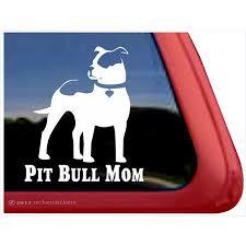Pit Bull Mom High Quality Vinyl Pitbull Dog Window Decal Walmart Com