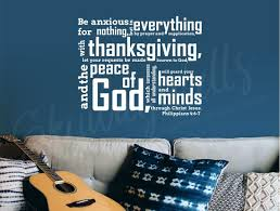 Philippians 4 6 7 Be Anxious For Nothing Vinyl Wall Decal Etsy