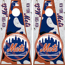 New York Mets Cornhole Wrap Mlb Vintage Game Board Skin Set Vinyl Decal Co507 Sporting Goods Cornhole Bag Toss Romeinformation It