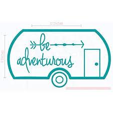 Be Adventurous Camper Vinyl Lettering Stickers Rv Wall Art Decals 11x6 Inch Teal Walmart Com Walmart Com