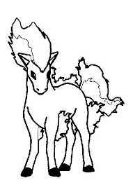 Pokemon Ponyta Coloring Page Get Coloring Pages