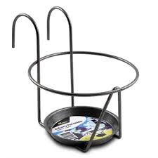 Whites Outdoor 180mm Black Round Deluxe Balcony Pot Holder