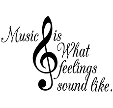 Amazon Com Vinyl Decal Music Is What Feelings Sound Like Inspirational Musical G Clef Symbol Home Decor Home Kitchen