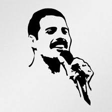 Freddie Mercury Portrait Vinyl Decal Sticker Etsy