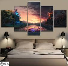 Hd Print 5pcs Dota 2 Canvas Wall Art Painting Poster Modern Home Decor Wall Art Pt1510 Painting Calligraphy Aliexpress