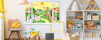 Kids Wallpaper Farm Wallstickers Kids Room Nursery Wall Decals Stickerbombing Eu