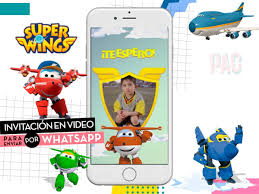 Super Wings Video Invitacion Para Enviar Por Whatsapp Pac 400