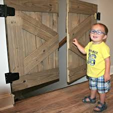 Diy Baby Gate With A Rustic Flair