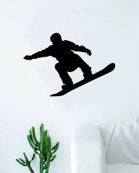 Snowboarder V4 Wall Decal Sticker Vinyl Art Bedroom Room Home Decor Te Boop Decals