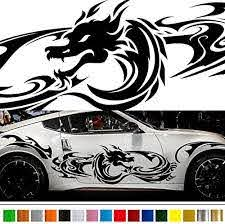 Amazon Com Dragon Tribal Car Sticker Car Vinyl Side Graphics Wa15 Car Vinylgraphic Car Custom Stickers Decals 8 Colors To Choose From Japan Quality Fast And Furious Lightning Car Styling Automotive