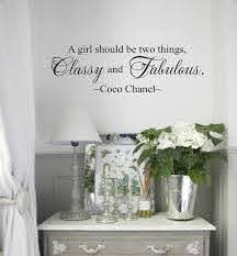 Wall Decal Wall Vinyls Decals Art Coco Chanel Wall Decal A Girl Should Be Two Things Classy Wall Decals For Bedroom Vinyl Wall Decals Wall Quotes Decals