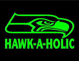 Hawk A Holic Seahawks Vinyl Window Decal Pick Your Size And Etsy