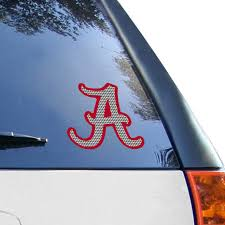 Alabama Crimson Tide 8 X8 Houndstooth Decal Logo
