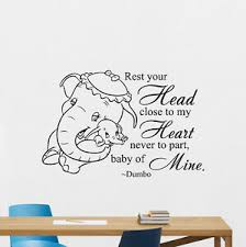 Dumbo Wall Decal Disney Elephant Quote Nursery Vinyl Sticker Baby Decor 118hor Ebay