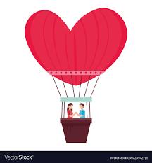 hot romantic travel vector image