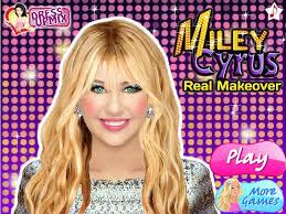 miley cyrus real makeup games