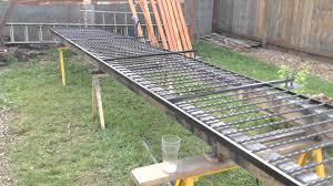 Improvised Layout Jig For Welded Steel Fences And Gates Backyard Fences Garden Fencing Fence Landscaping