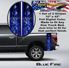 Blue Flame Truck Bed Band Auto Stripe Decal Kit Graphics Ebay