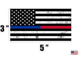 4 Pack Thin Blue Line And Red Line Lives Matter Flag Car Decal Bumper Sticker Support