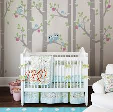 Birch Tree With Owls Wall Decal Baby Nursery Wall Stickers Etsy In 2020 Owl Wall Decals Nursery Wall Stickers Baby Room Decals