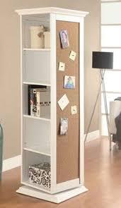 coaster furniture white swivel storage