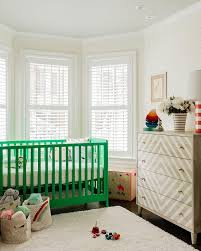 kelly green crib in bay window