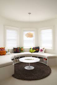 Kids Bedroom Idea Create A Curved Window Seat With Built In Storage