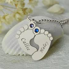 personalized baby feet name necklace