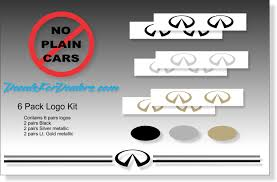 Violassi Striping Company Infiniti Logo Emblem Decal Pinstripe Kits