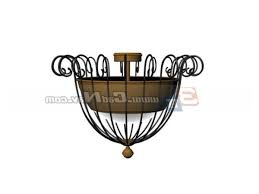 wrought iron ceiling lamp design free