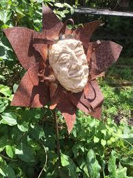 garden flower stake ceramic beaming